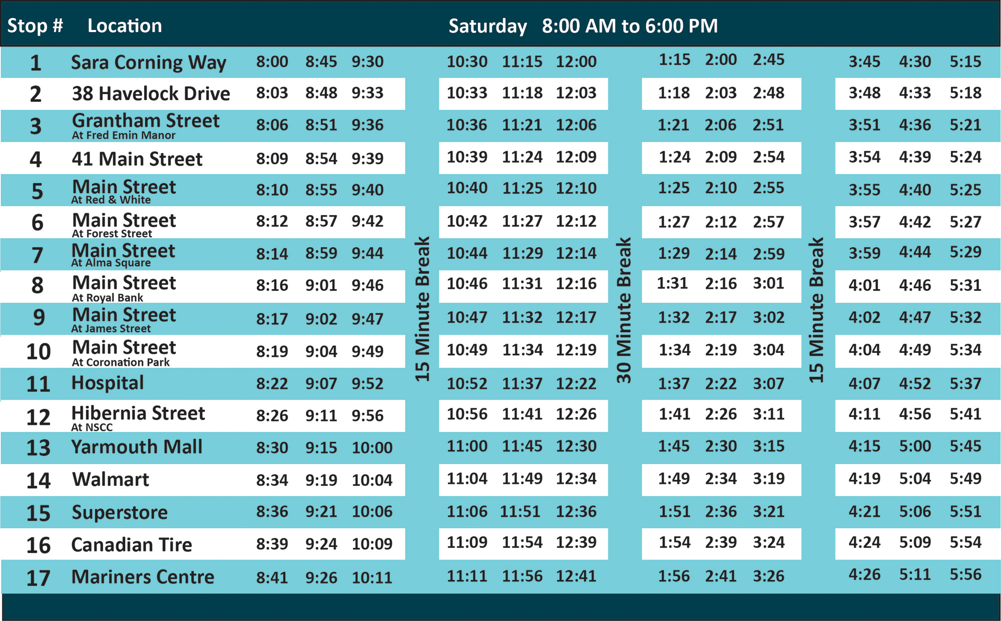 Town Of Yarmouth Route Amp Schedule
