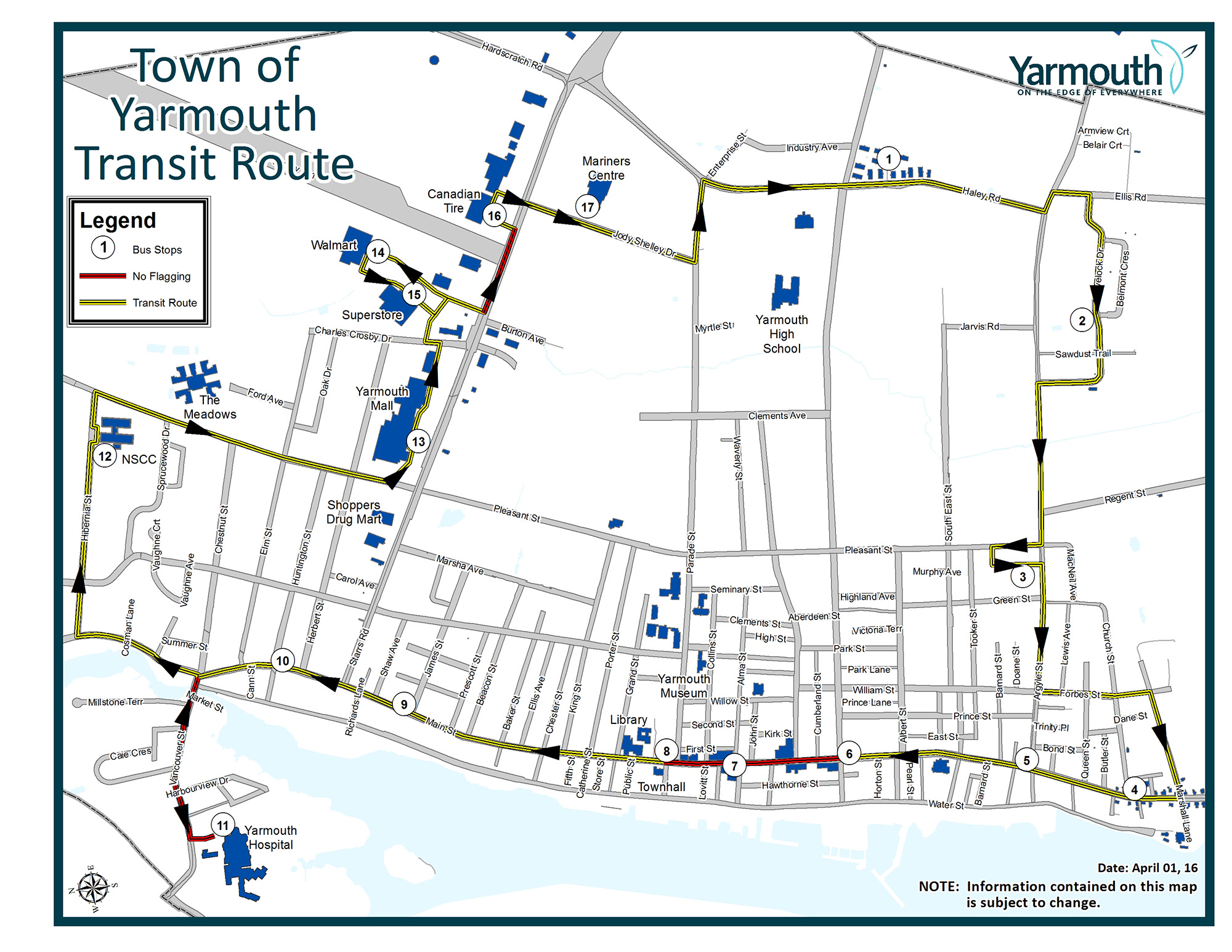Town of Yarmouth Route Schedule